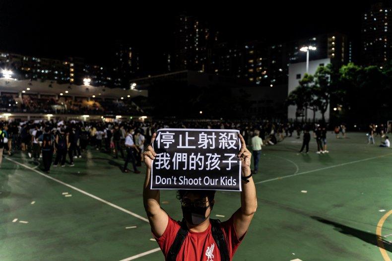 Hong Kong, protester, shot, rioting, jail, police