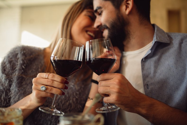 wine, alcohol, red wine, drinking, couple, getty,stock