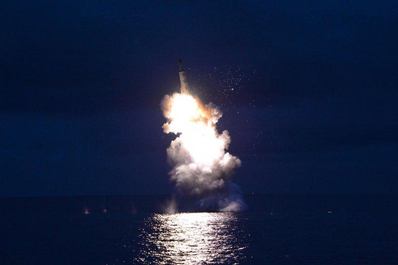 North Korea, SBLM, missile, submarine