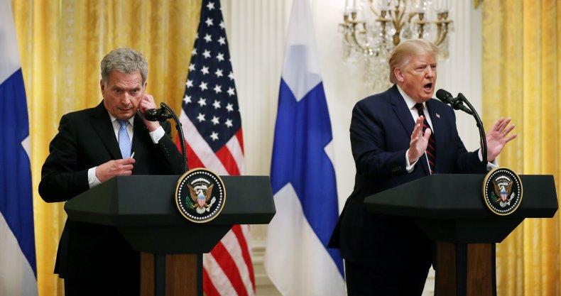 Finnish President Sauli Niinisto and U.S. President Donald Trum