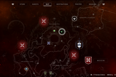destiny 2 bound manacle map