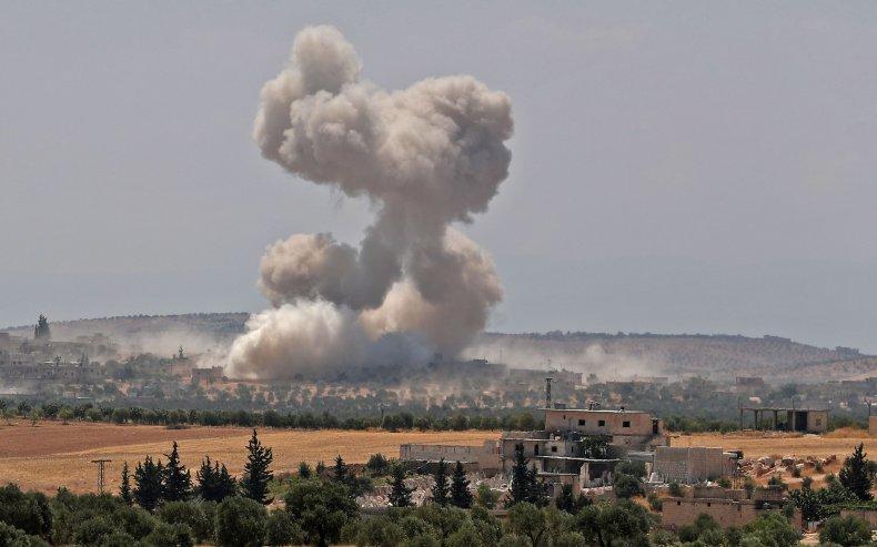 syria air strike idlib military war