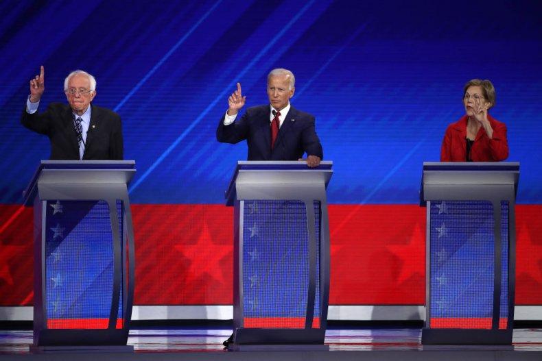 Bernie Sanders Joe Biden Elizabeth Warren Debate