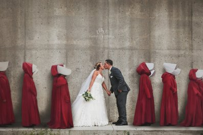 Viral Handmaid's Tale Wedding Photo Ignites The Internet