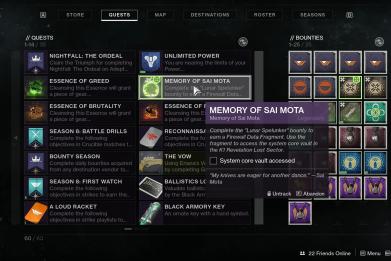 destiny 2 deathbringer system core vault mission