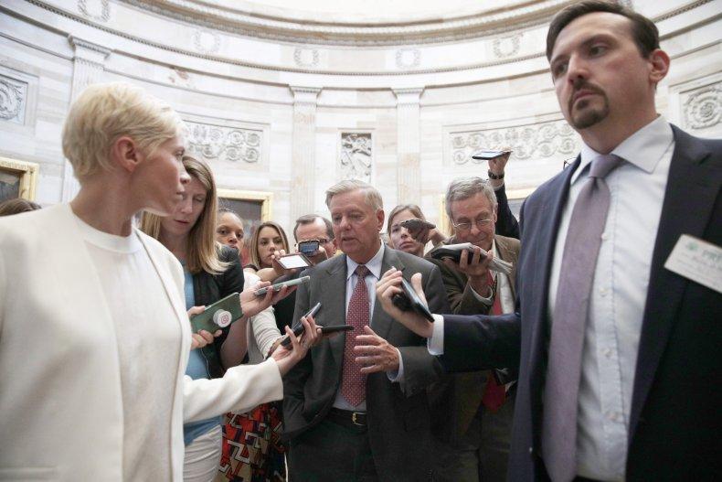 Democrat Jaime Harrison, Lindsey Graham challenger