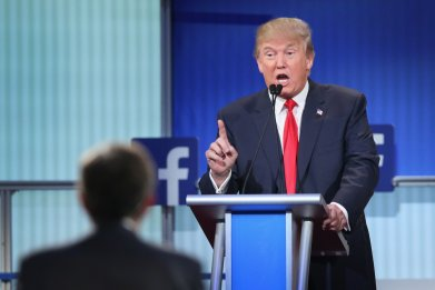 Trump, first republican presidential debate in 2015