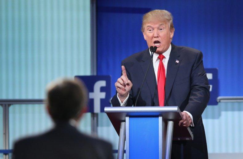 Trump, first republican presidential debate in 2015