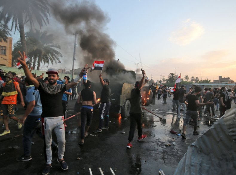 iraq baghdad protests unrest demonstrations