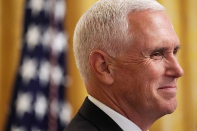 Mike Pence, Donald Trump, impeachment, Stephen Colbert