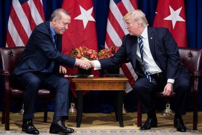 Trump and Erdogan Shake Hands