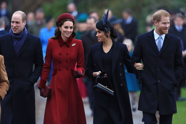 Royal family including Meghan