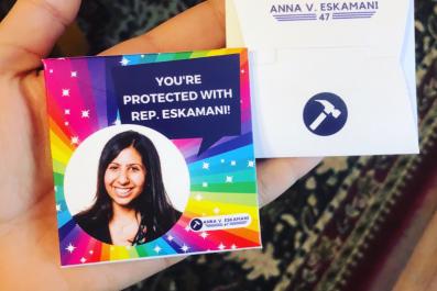 Florida Democrat Rep. Eskamani Condom