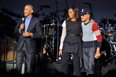 Chance the Rapper and the Obamas