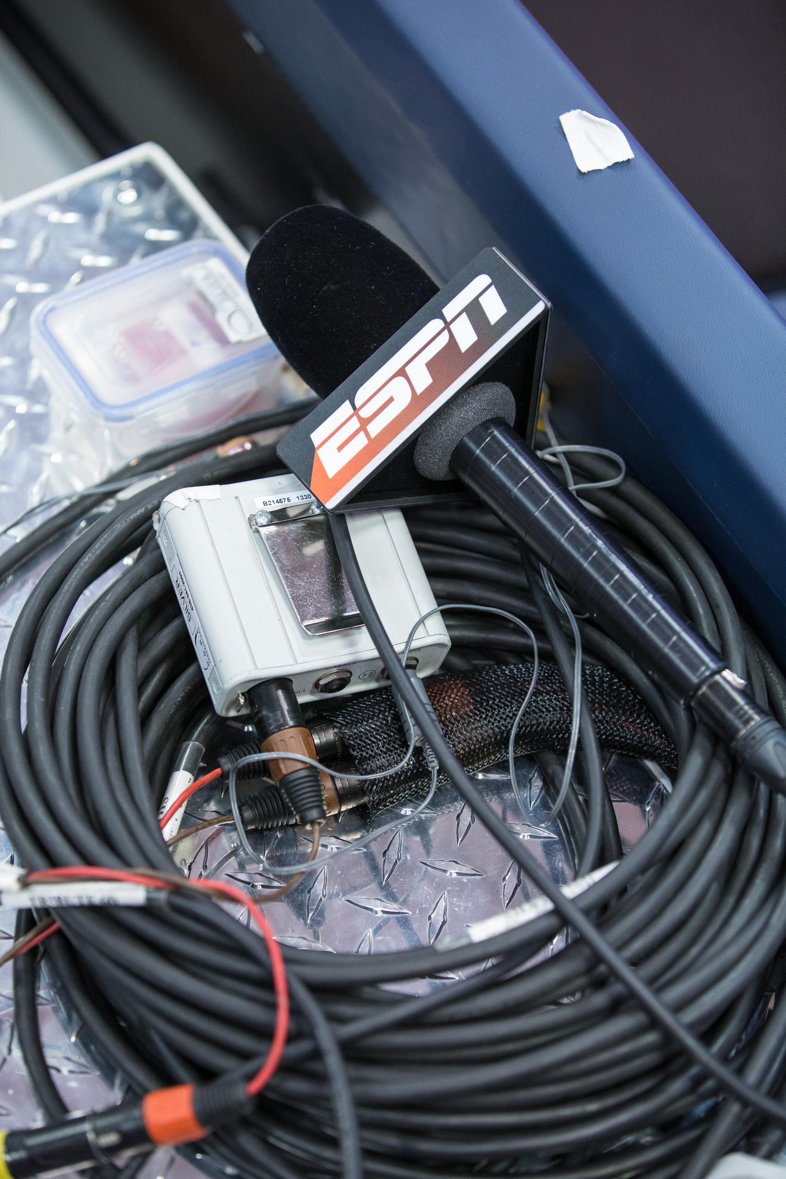 ESPN broadcast microphone