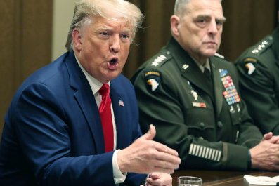 Donald Trump with General