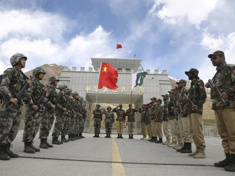 china pakistan border guards joint patrol