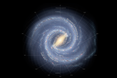 NASA map of Milky Way