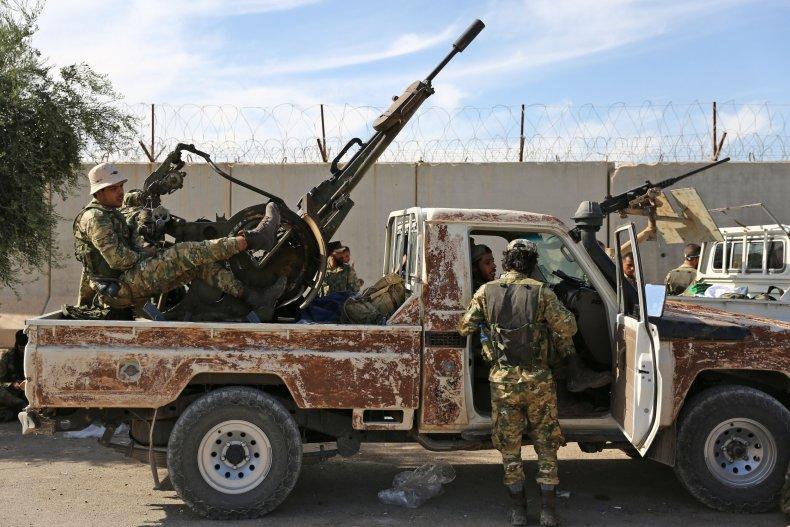 Syrian Fighters Turkey Kurds