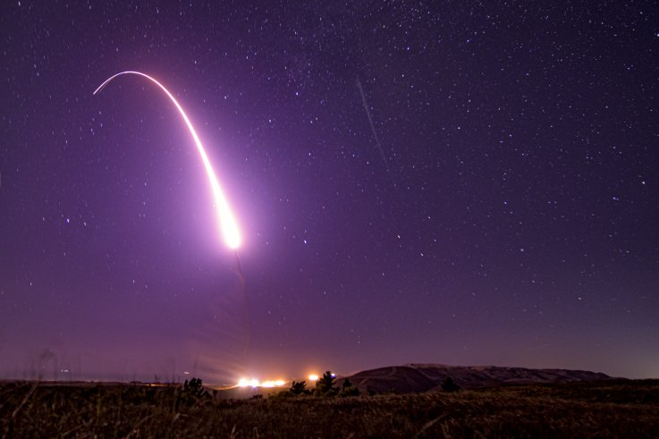 icbm missile test us air force