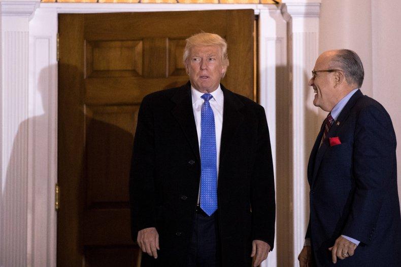 Donald Trump Rudy Giuliani Line