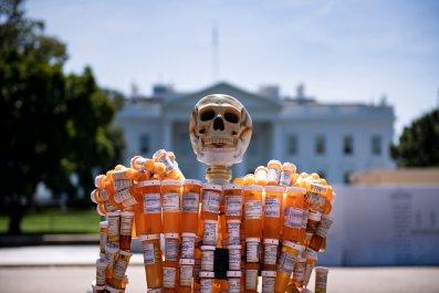 Painkiller Prescription Sculture in Washington, D.C.