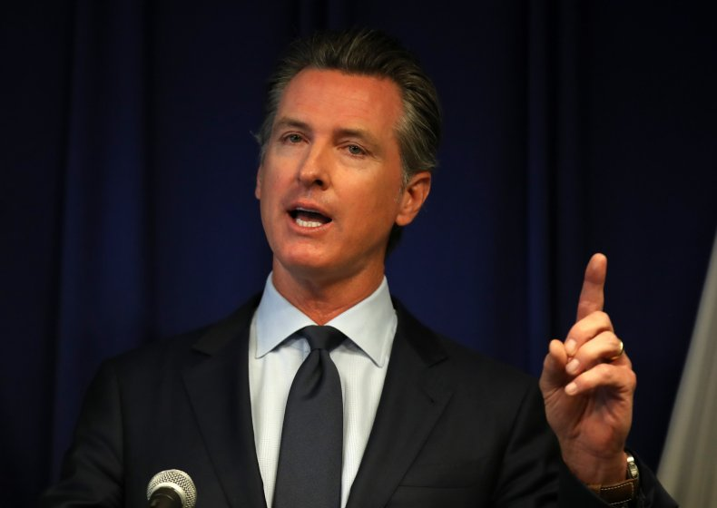 California Gov. Newsom And CA Attorney Gen. Becerra Hold News Conference Responding To Trump Revoking State's Emissions Waiver