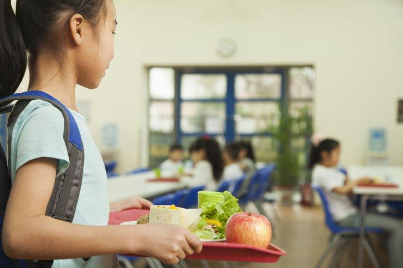 Stock Image: school cafeteria