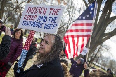 Donald Trump protesters impeachment
