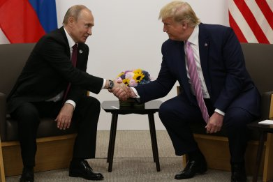 Donald Trump and President Vladimir Putin