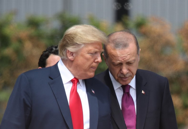 Trump Erdogan Nato Summit Belgium
