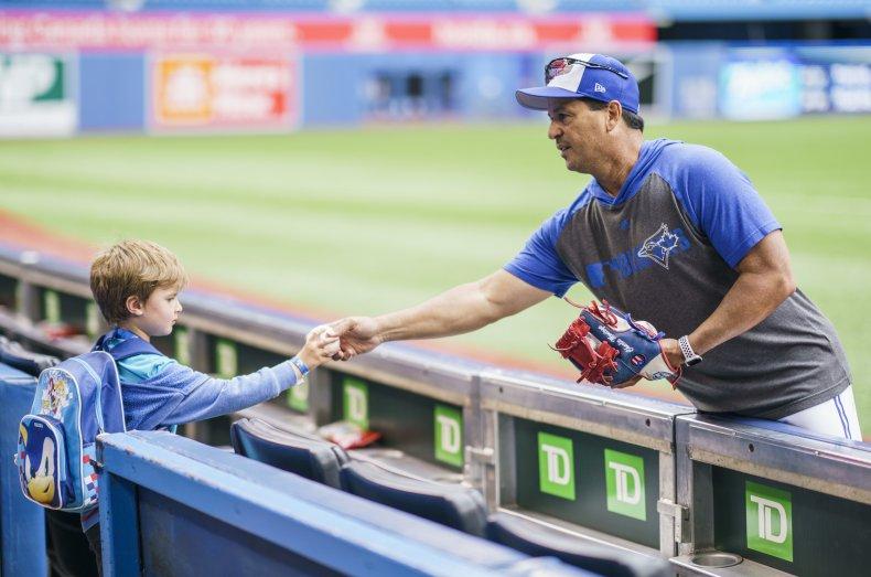 baseball Toronto manager child