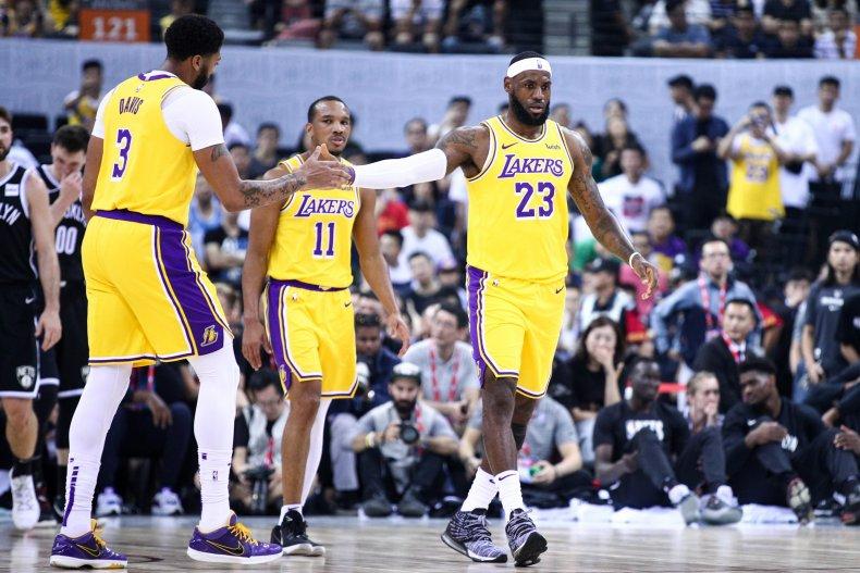 LeBron James, Anthony Davis, Los Angeles Lakers