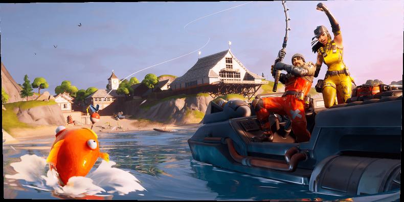 fortnite water gameplay