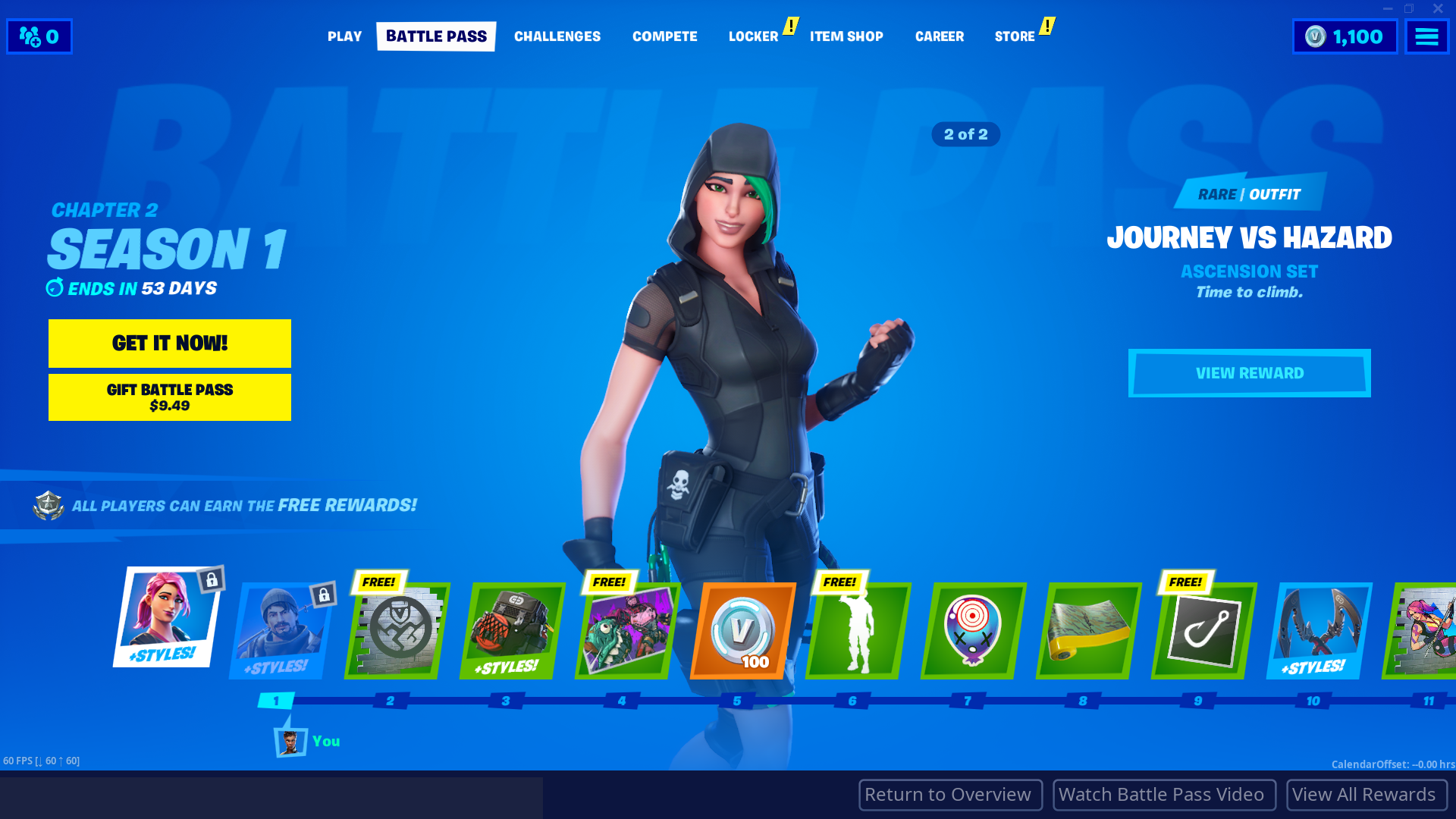 Fortnite Chapter 2 Season 1 Battle Pass Skins Every