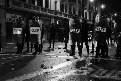 riot police, Catalonia