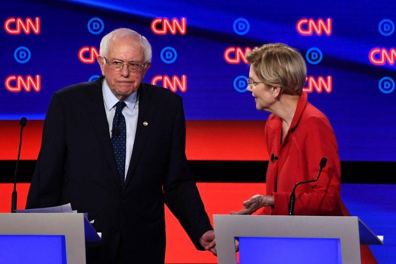 Bernie Sanders Elizabeth Warren Stand