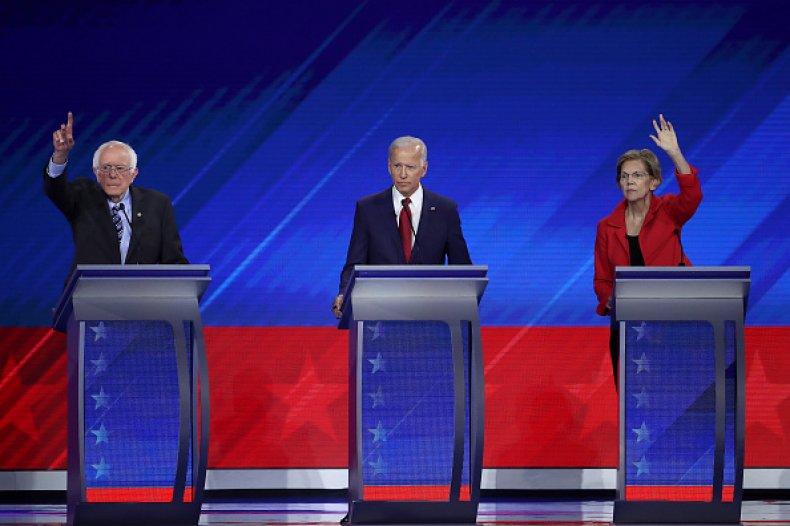 biden sanders warren democratic debate