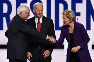 Bernie Sanders Elizabeth Warren Democratic Debate