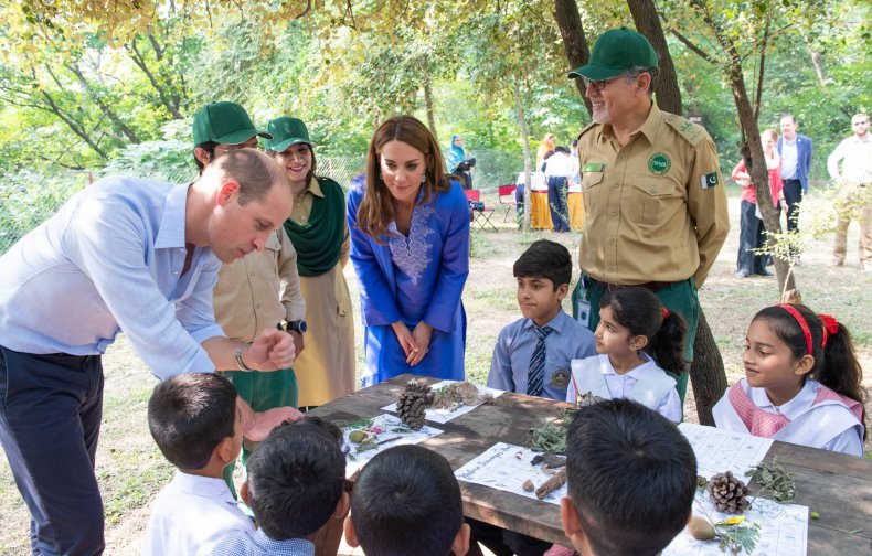 William and Kate in the Margalla Hills