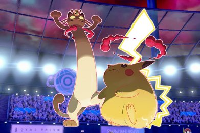pokemon sword shield gigantamax meowth pikachu leak