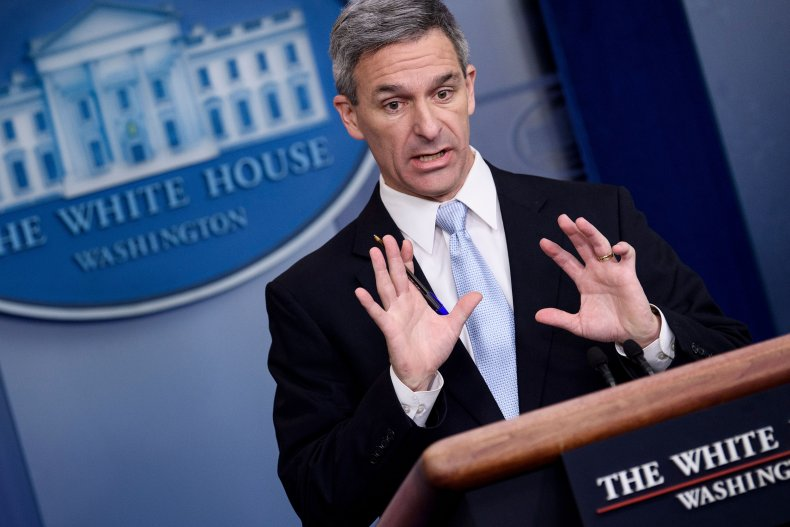 Ken Cuccinelli Acting Head Citizenship and ImmigrationServices