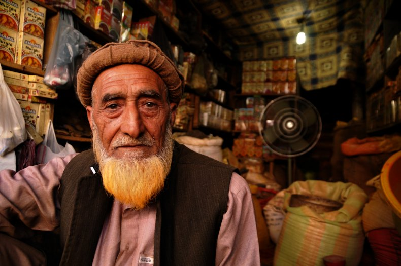 A local spice man in Pakistan.