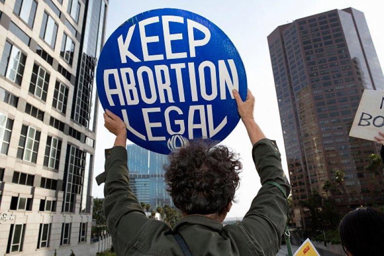 abortion rights protest LA california