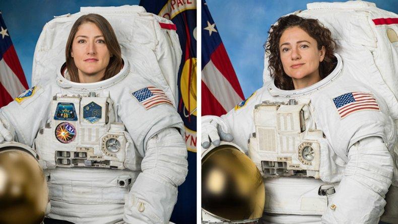 NASA astronauts Christina Koch and Jessica Meir.