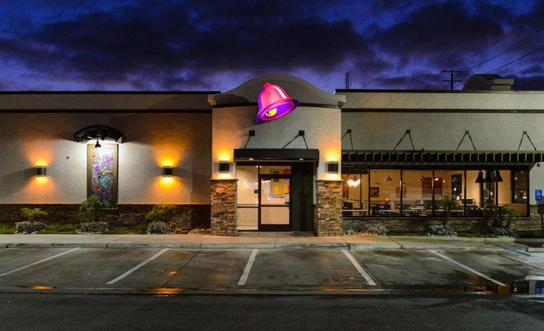 Taco Bell at night