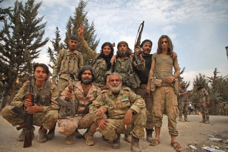 north syria rebels turkey attack kurds