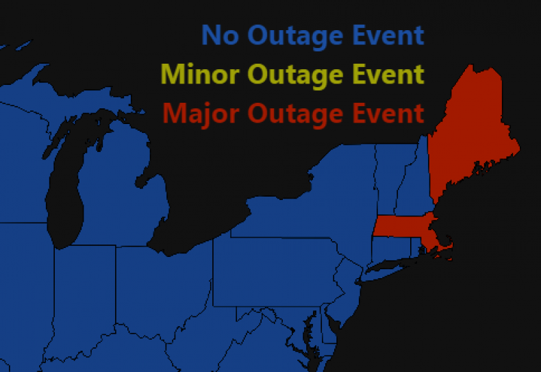 Power Outage Map Thousands In Maine Massachusetts Still In The