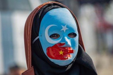 China Uighur Protester Xinjiang