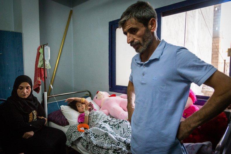 north syria war hospital child